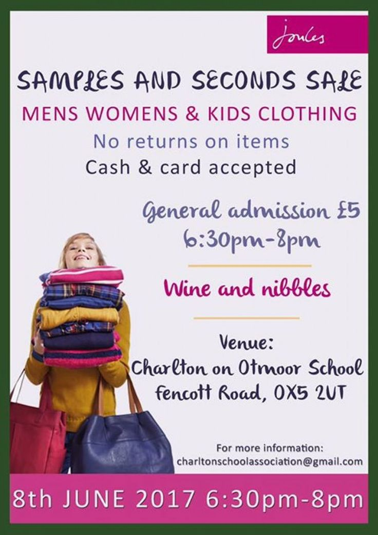 Joules sample and seconds sale  -- Charlton-on-Otmoor -- 08/06