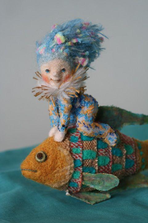 *NEEDLE FELTED ART ~  by: Yoomoo, 羊毛倉庫の日々
