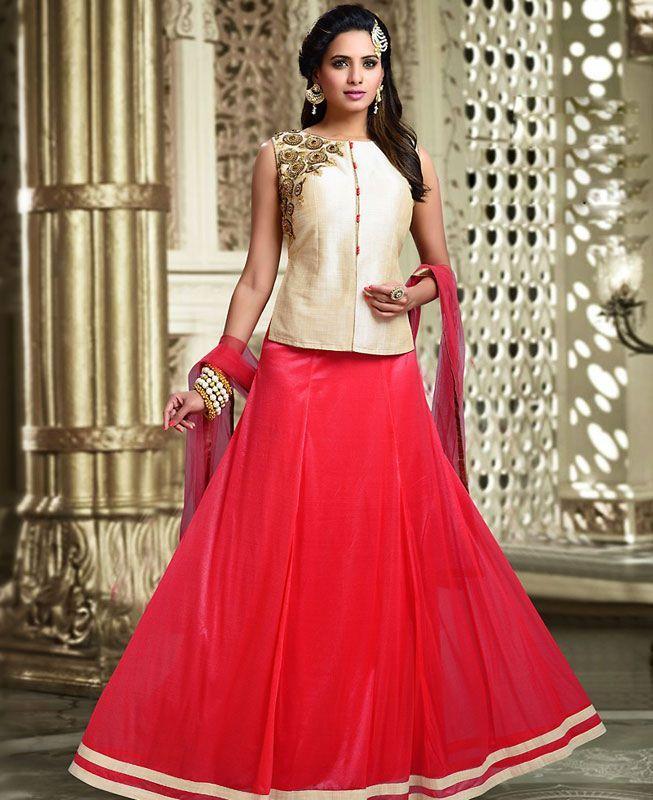 Buy Fine Pink Readymade Lehenga Choli online at  https://www.a1designerwear.com/fine-pink-readymade-lehenga-choli-2  Price: $66.32 USD