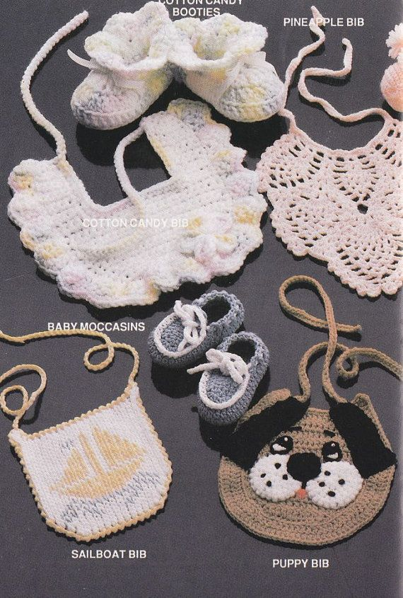 Baby Bibs Crochet Patterns Matching Booties