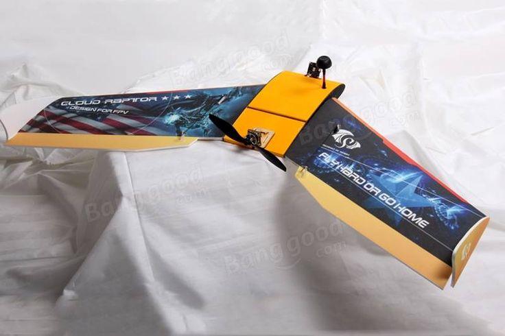 Raptor de nuage 1000mm aile volante EPP FPV Racing RC avion Kit