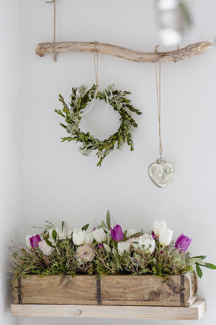 Mit Frühlingsblumen im März und Teesieger