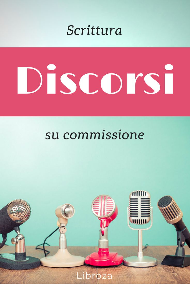Servizio professionale di scrittura discorsi su commissione - Libroza.com
