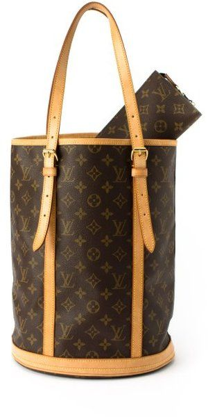 got!!! vintage Louis Vuitton Brown Monogram Canvas Bucket Gm Vintage Tote