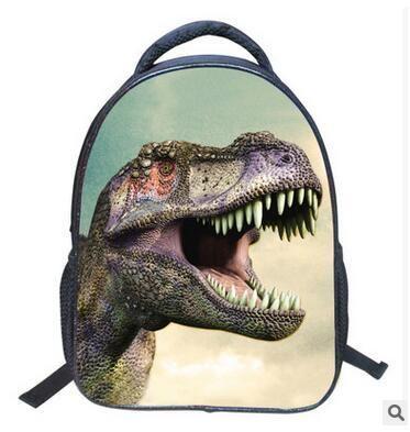 Hot-sale Cartoon Jurassic Park Printting Children Backpacks For Girls/Boys Students Dinosaur School Shoulder Bag