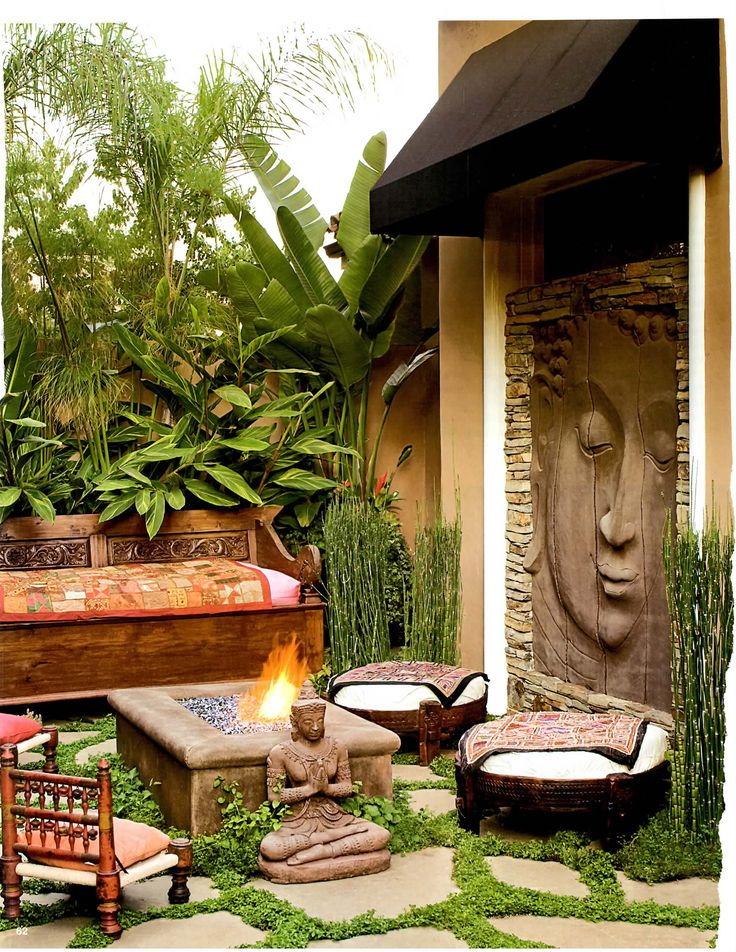 Zen space - I love this. Reminds me of Chaing Mai, Thailand.