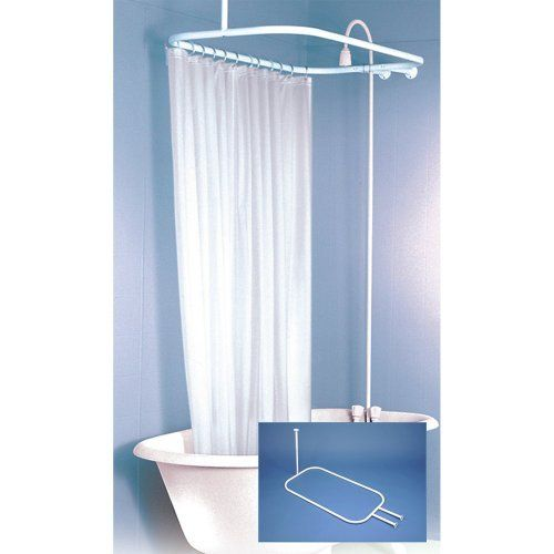 1000 images about clawfoot tub shower rod on pinterest wall mount clawfoot tubs and shower heads. Black Bedroom Furniture Sets. Home Design Ideas