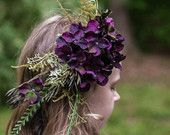 Woodland Wedding Bridal Fascinator- Purple Hydrangea Hair Clip Ideal for Bride, Bridesmaids or Flower Girl