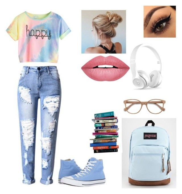Untitled #2 by izzyvb on Polyvore featuring polyvore, fashion, style, Converse, JanSport, EyeBuyDirect.com, Forever 21, 7 For All Mankind and clothing