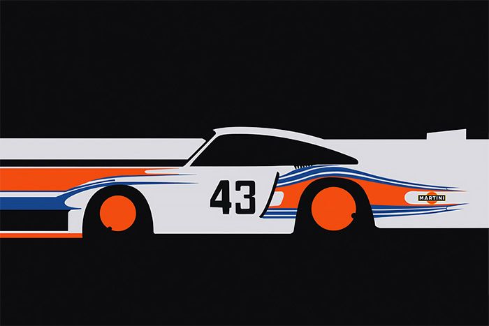 Racing Car Illustrations by Cale Funderburk
