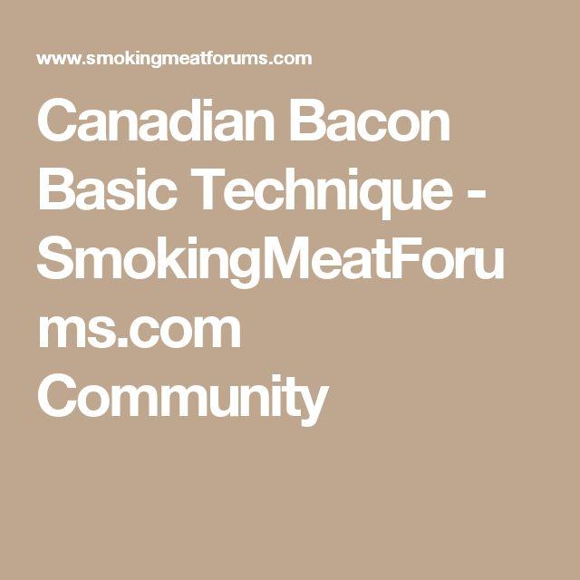 Canadian Bacon Basic Technique - SmokingMeatForums.com Community