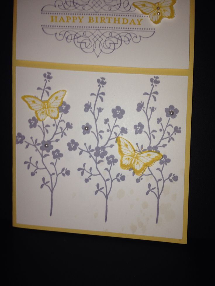 Happy birthday butterfly card Stampin Up