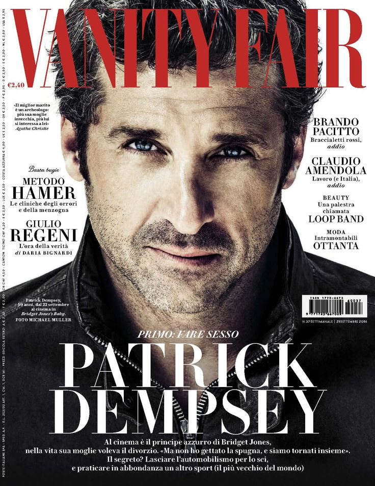 Patrick Dempsey para Vanity Fair Italia Septiembre 2016