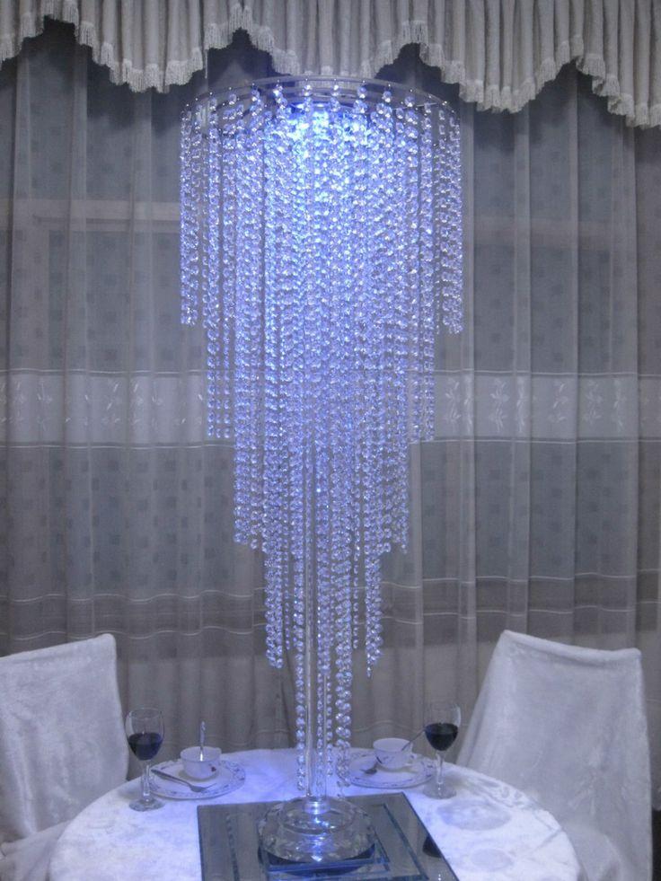 Розничная Кристалл Свадебный Centerpiece Цветок Стенд Таблица Centerpiece Украшение Высота 120см