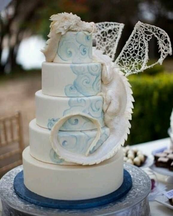 Dragon wedding cake created by The Butter End - thebutterend.com