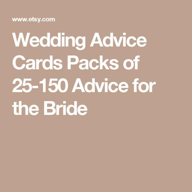 Wedding Night Advice: 25+ Best Ideas About Wedding Advice Cards On Pinterest