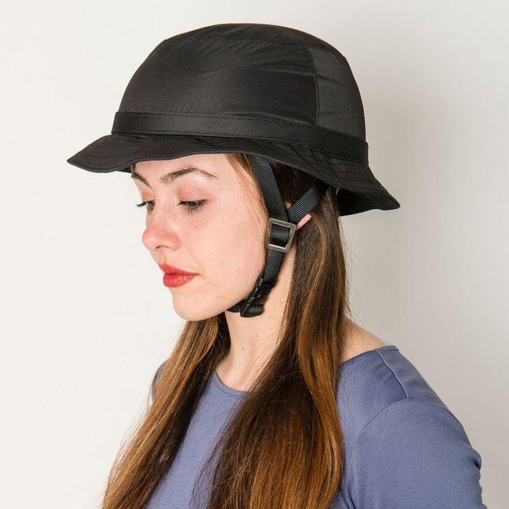 Yakkay Tokyo Black Rain helmet cover   Cyclechic   Cyclechic
