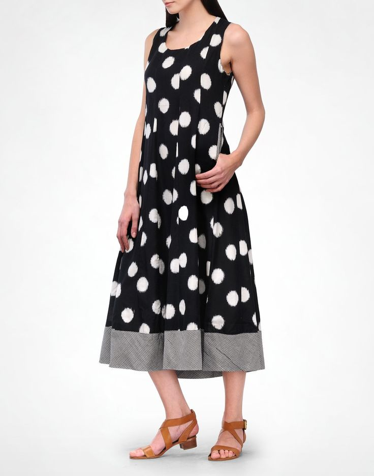 Black Polka Ikat Dress-Translate- img3