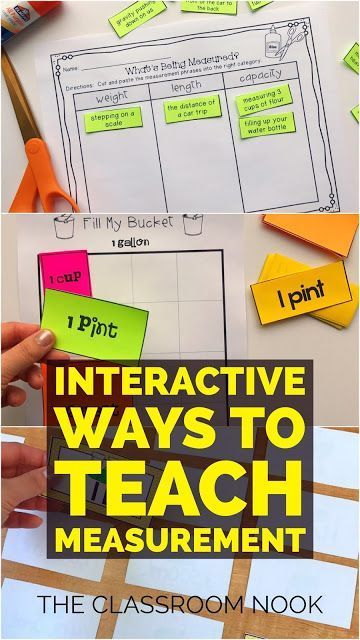 Interactive Ways to Teach Measurement including games, measurement sorts, task cards, and videos!  Check out the post for all the details!