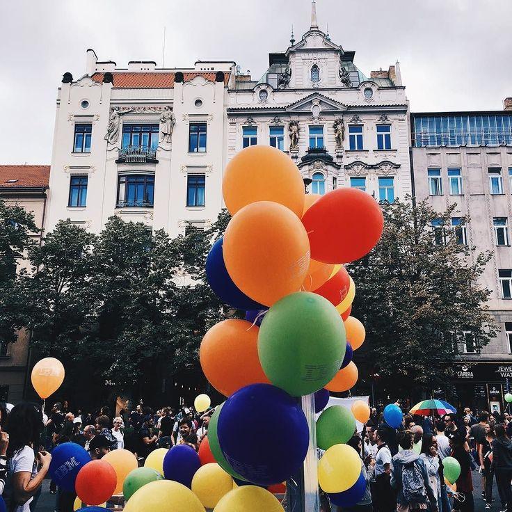 Prague pride yesterday was beautiful colourful and so fun! #LoveIsLove- - - - - - - - - - - - - - - - - - - - - - #praguepride #praguegey #prague #praha  #pride #pride2017 #gay #loveislove #rainbow #pridemonth #prideparade #proudandloud #travel #travels #traveling # #equality #equalityforeveryone #equalrights #prague2017 #czechia #czechrepublic #love #equallove
