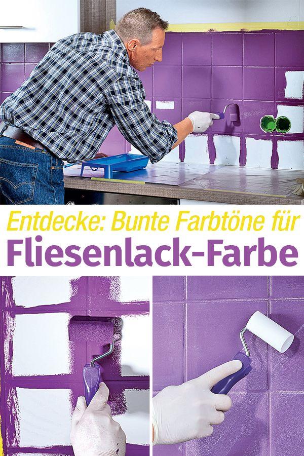 Fliesenlack Farben Своими руками Pinterest - laminat in küche verlegen