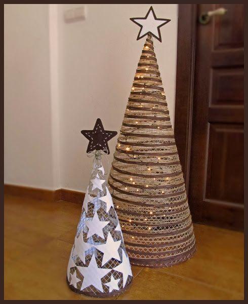 DIY: Arbolitos de Navidad.                                                                                                                                                                                 Más