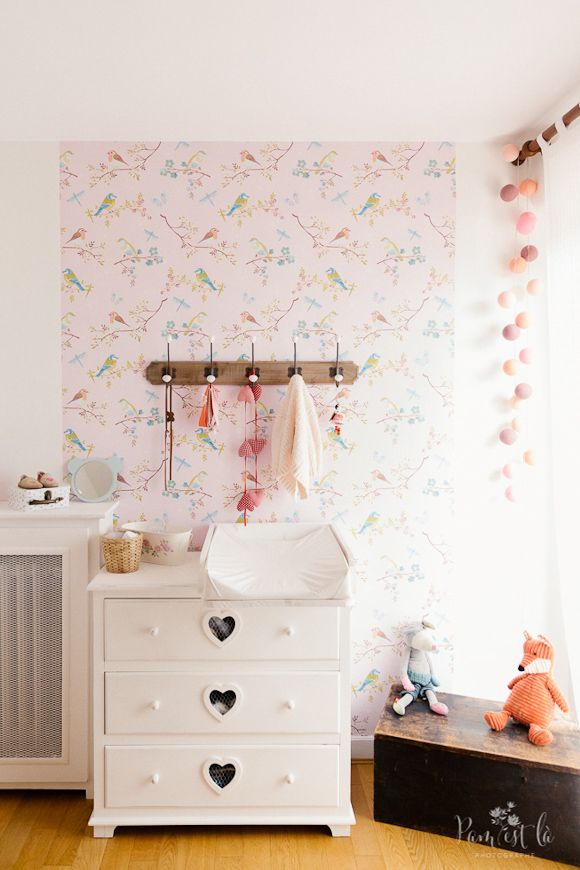 les 25 meilleures images de la cat gorie papier peint de chambre de fille sur pinterest. Black Bedroom Furniture Sets. Home Design Ideas