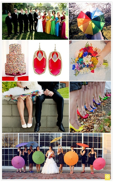 Let's just pin all of the rainbow wedding collages. Okay.