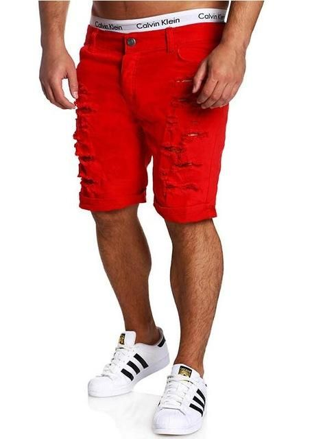 a2ba50ff130 T-Bird 2018 Cargo Shorts Men Casual Solid Hole Summer Brand Clothing Cotton  Male Fashion