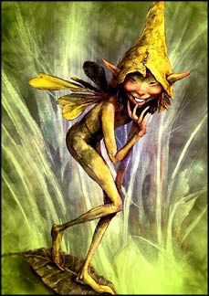 Curious Fairy. Art by Brian Froud. Tree-Free Card, printed on Kenaf ...