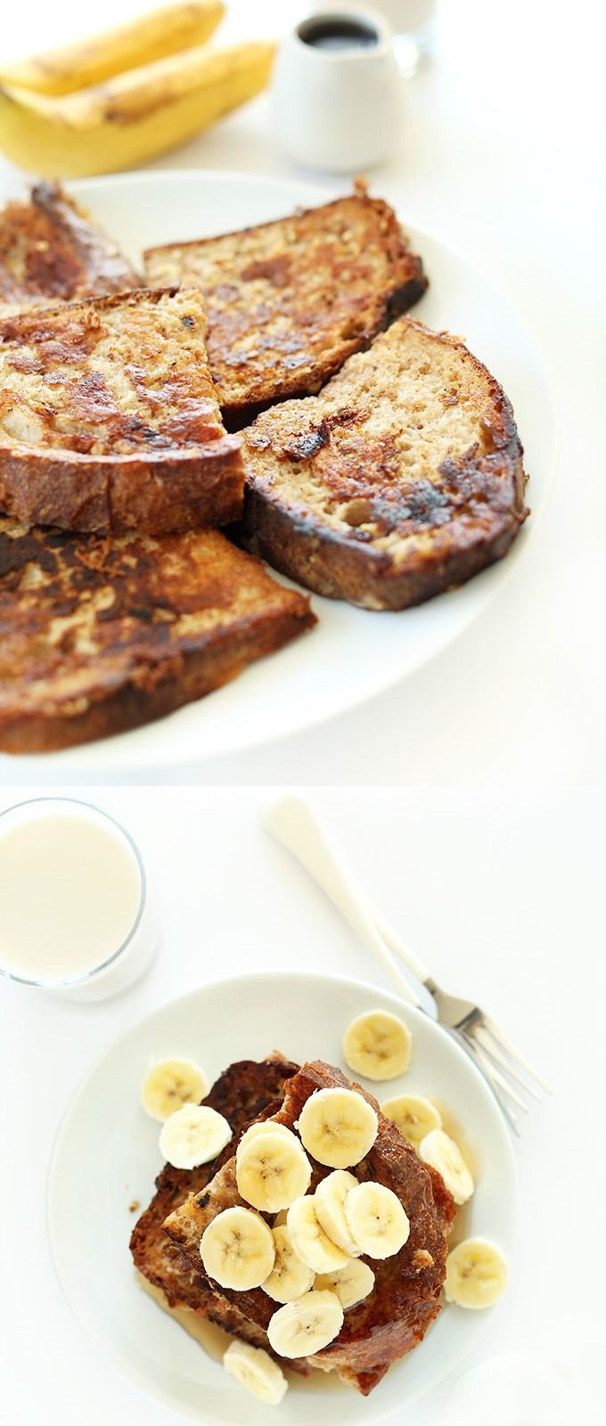 5 Ingredient Vegan Banana French Toast! So simple, healthy and mega moist and flavorful. #vegan #breakfast #frenchtoast #healthy: Entir Houses, Houses Smell, House Smells