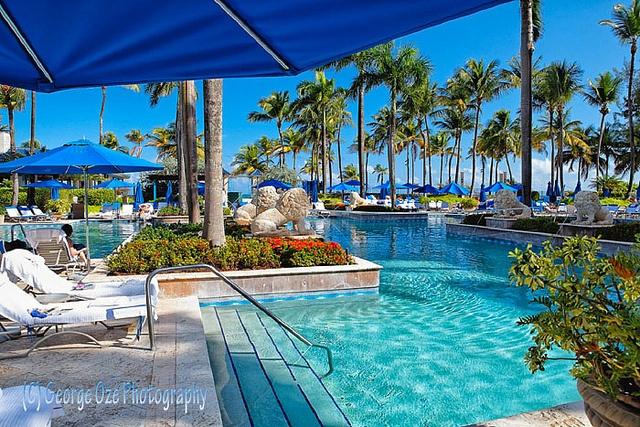 Poolside at the Ritz, San Juan Puerto Rico