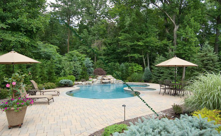 11 best 2 level deck images on pinterest deck for Garden oases pool