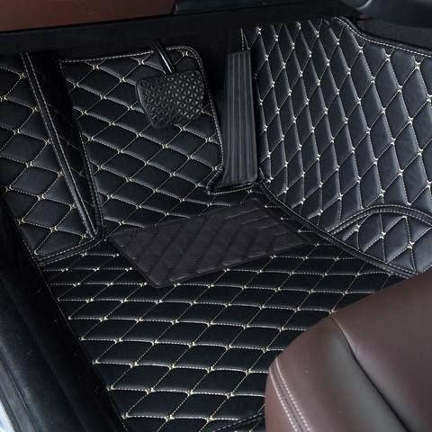 Luxury Diamond Stitched Floor Mats Black Beige Dodge Full Set Car Floor Mats Car Mats Custom Car Floor Mats