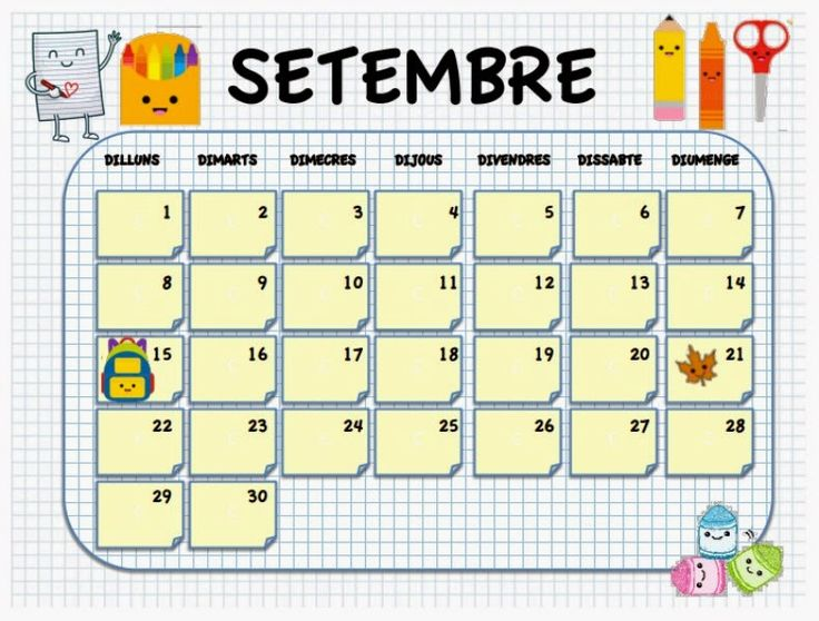 Calendario aula descargable 2017-18