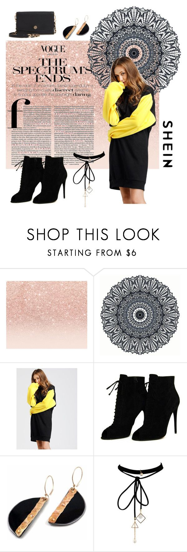 """""""S H E I N"""" by scodinoa ❤ liked on Polyvore featuring Glitter Pink, Tom Ford, WithChic and Tory Burch"""