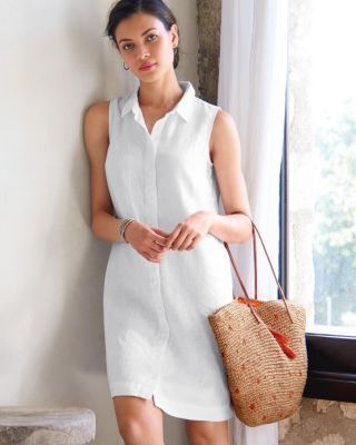 Linen Shirtdress - Garnet Hill