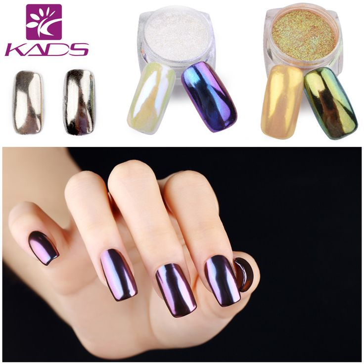 KADS 1g/pot Mirror Glitter Nail Art Powder Nail Tips Beauty Nail Powder DIY Chrome Pigment Glitters For Nail Glitter Shining