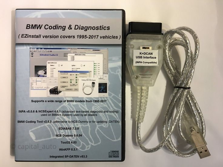 Nice Awesome BMW K + DCAN OBD2 USB Cable FTDI FT232RL + Switch + BMW Tools INPA EDIABAS NCS 2017 2018