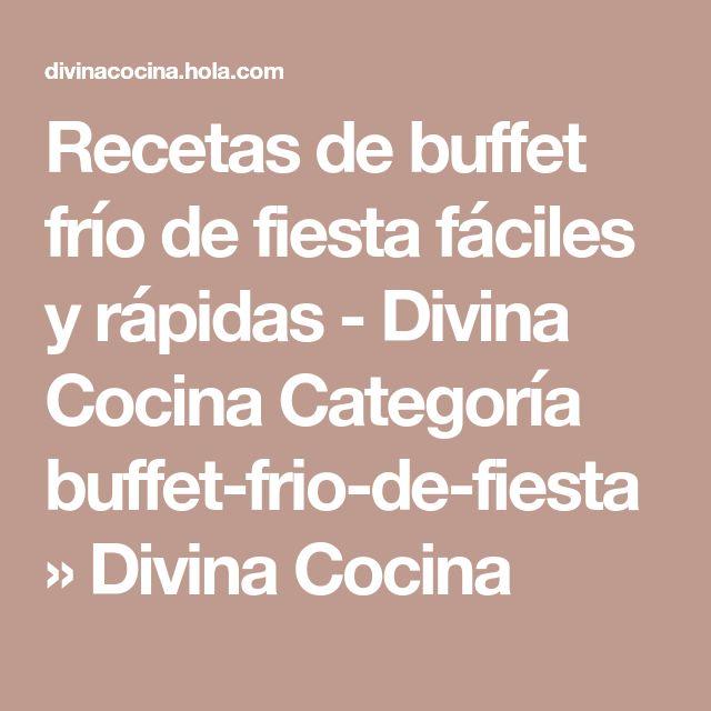 Recetas de buffet frío de fiesta fáciles y rápidas - Divina Cocina Categoría buffet-frio-de-fiesta » Divina Cocina