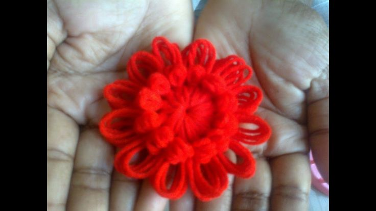 Woolen Flower Work