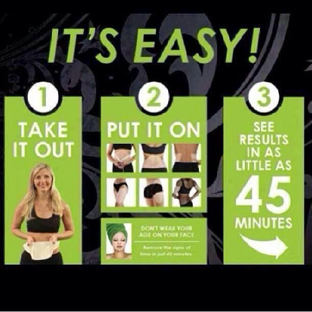 Applying an It Works wrap is as easy as 1-2-3! dinamilliken@yahoo.com or dinamilliken.myitworks.com