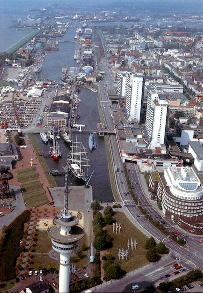 Bremerhaven, Germany on the North Sea. I lived here for 4 years, my daughter was born here. This is the part of the downtown and harbour.