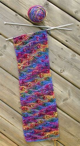 Drop Stitch Scarf, pretty & easy!