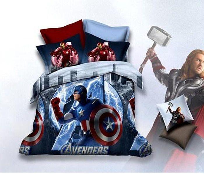 Avengers Captain America Bedding Duvet Cover Set