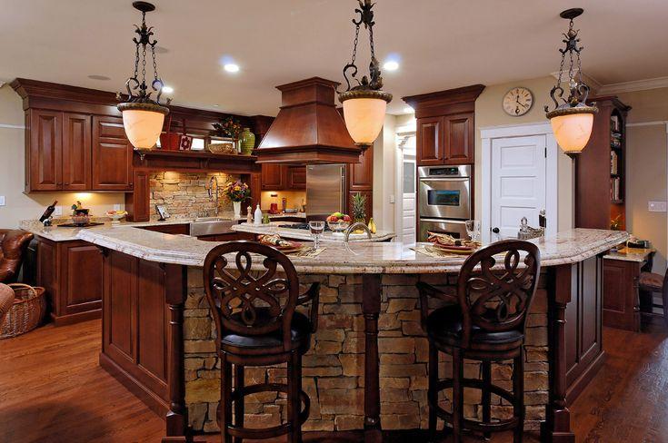 Curtain Design Cherry Cabinet Kitchens Brown Oak Wooden Kitchen ...