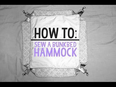 How To Sew Bunkbed Hammocks - YouTube