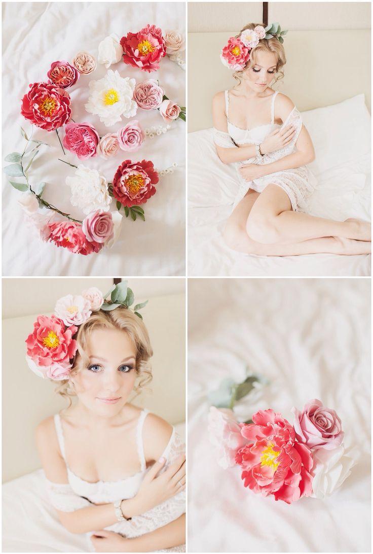 Bride clayflower accessories