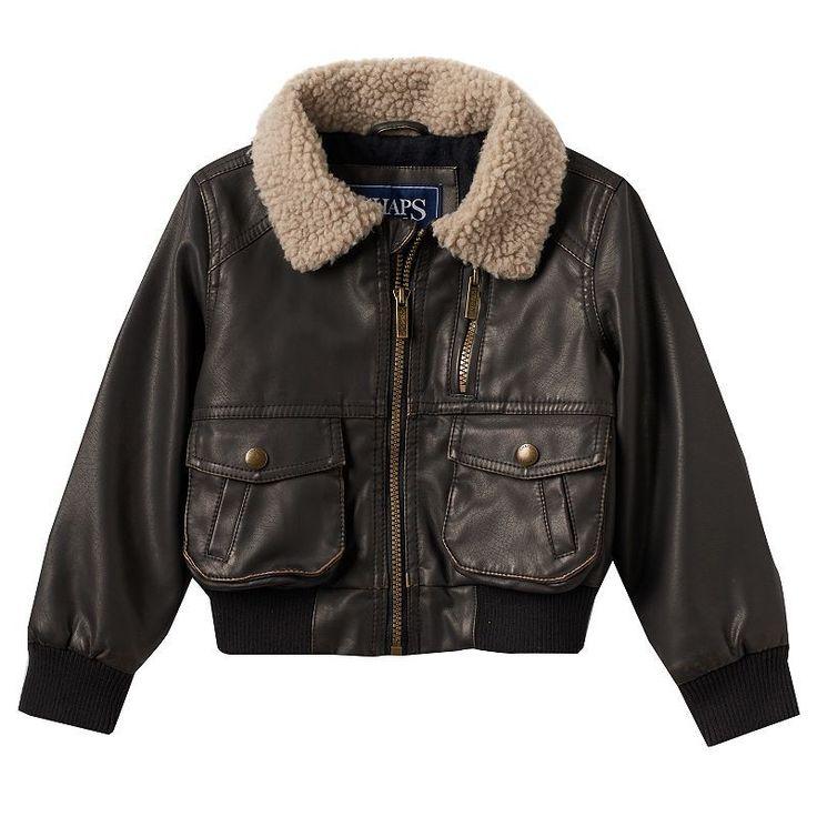 Boys 4-7 Chaps Faux-Leather Bomber Jacket, Boy's, Size: