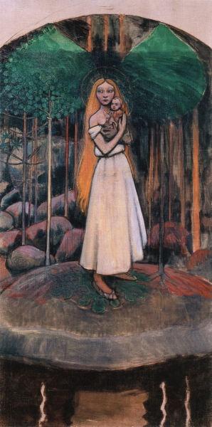 AKSELI GALLEN-KALLELA Marjatta and the Christ Child (1895-1896)